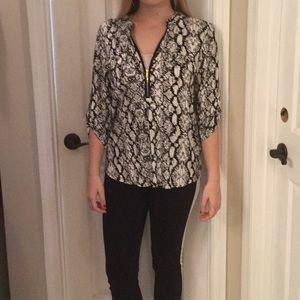 NWT Calvin Klein snakeskin inspired blouse